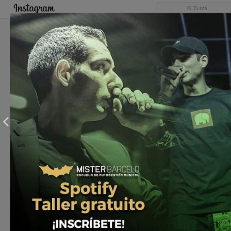 Creatividad de feed de Instagram de Mister Barceló.